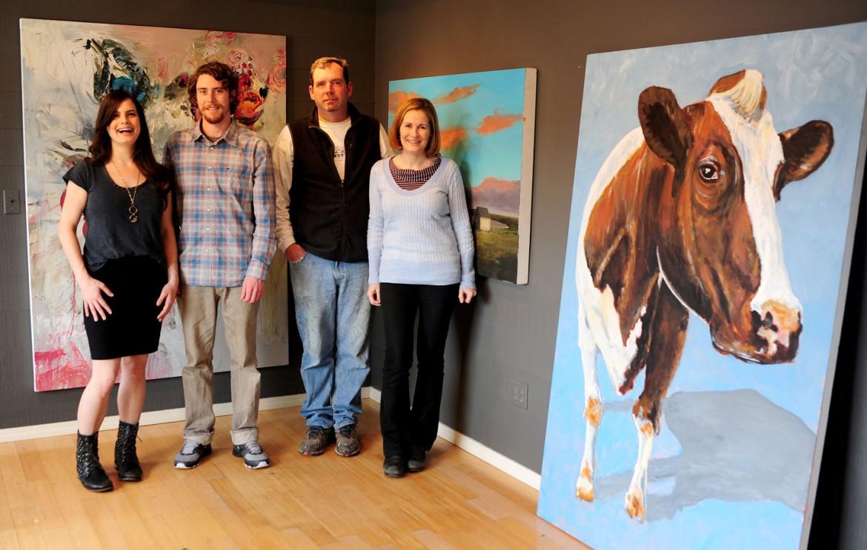 Lauren Coggins-Tuttle, Dan Van Landingham, Terry Crimmen and Tara Kenny. Photograph by: Ralph Stewart