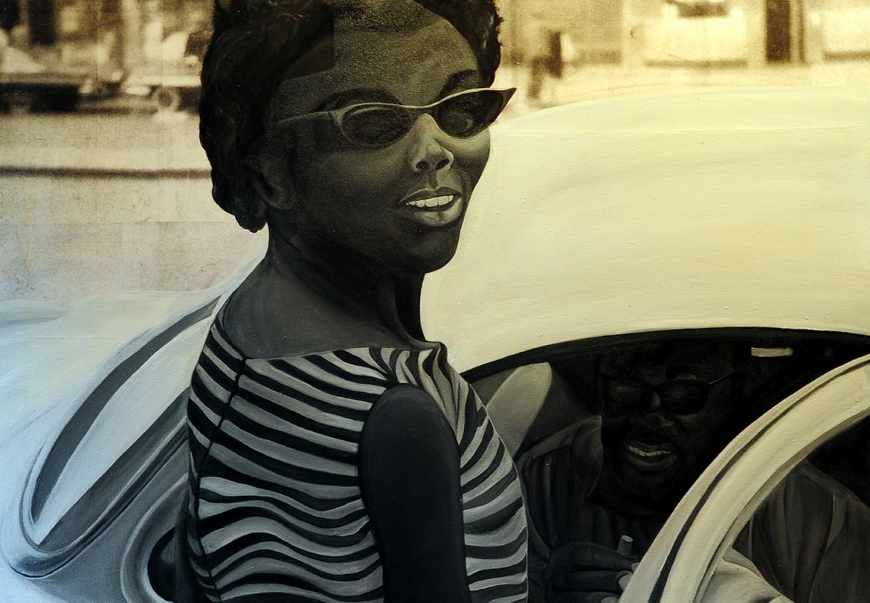 Chioke R. Morais, Untitled, mixed media, 3 x 5' (Chioke is author Mathea Morais' husband)