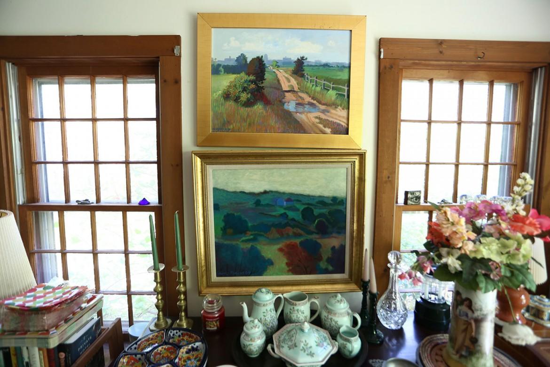 Inside Nancy Furino's Chilmark living room