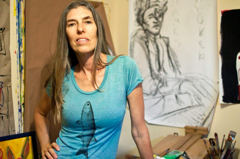 Basia Jaworska in her studio. —Tova Katzman