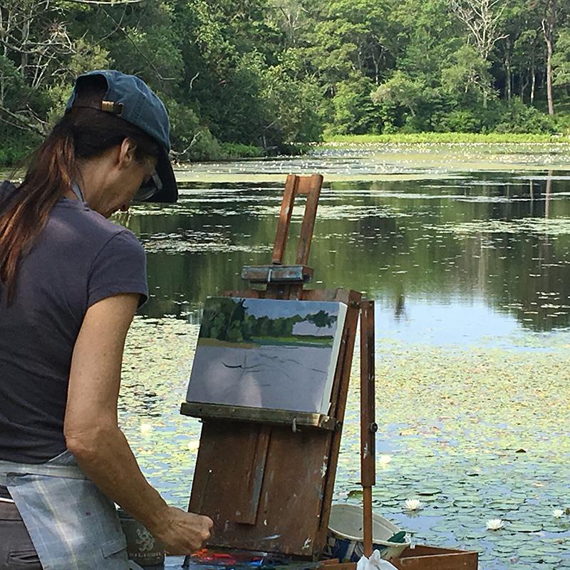 Marjorie Mason at Duarte Pond.