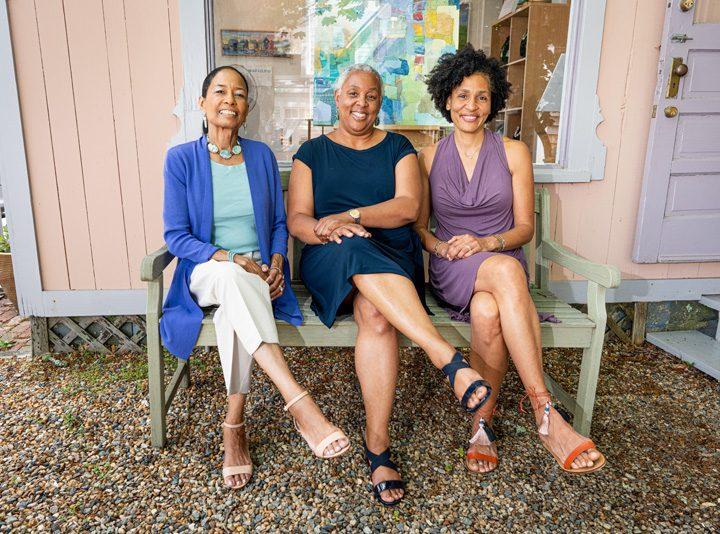 Three Gallerists in Oak Bluffs